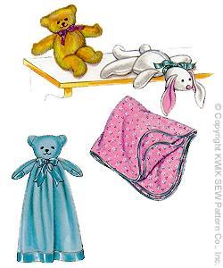 Kwik Sew  Bear Blanket, Teddy Bear, Bunny & Blanket 2791