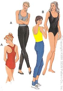 Kwik Sew Misses Leotards & Leggings 2797