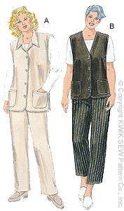 Kwik Sew Women  Vests & Pants 2837