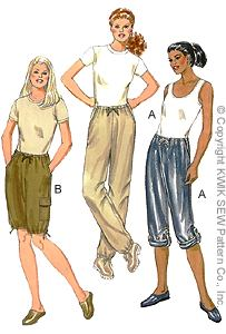 Kwik Sew misses (cargo) pants & shorts 2841