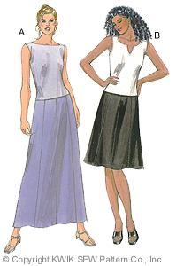 Kwik Sew Misses Skirts & Tops 2847