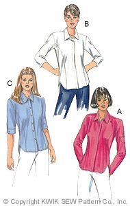 Kwik Sew Princess-seamed blouse 2849