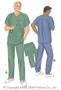 Kwik Sew Men Scrubs 2861