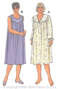 Kwik Sew Women Nightgowns 2863