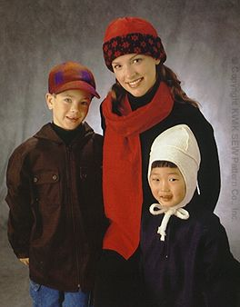 Kwik Sew Adult & Children Hats & Scarves 2891