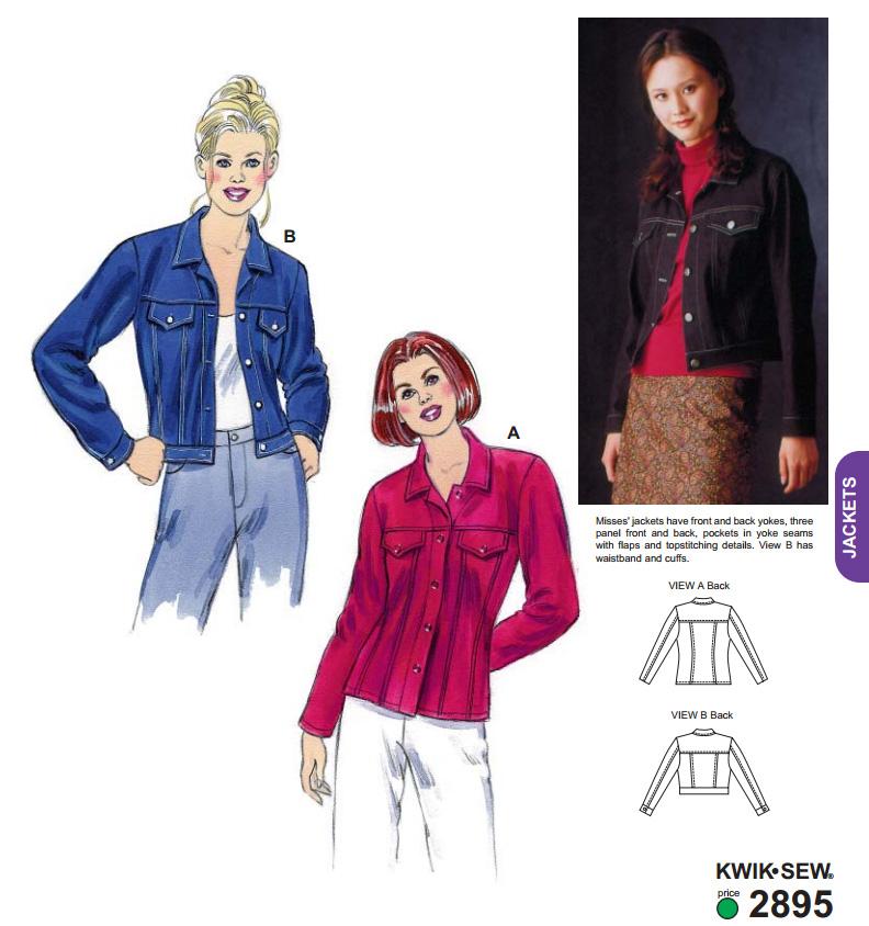 Kwik Sew Jean Style Jacket 2895