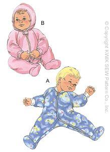 Kwik Sew Babies Sleeper 2919