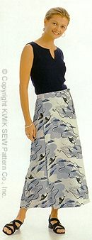 Kwik Sew Learn-to-sew skirt 2954