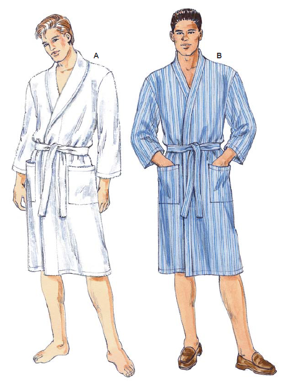 Kwik Sew Men's robe 3000