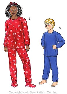 Kwik Sew Unisex Children Pajamas 3016