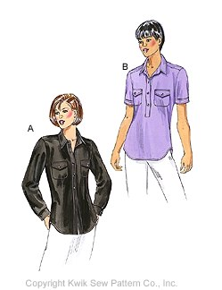 Kwik Sew Misses' fitted shirts 3026