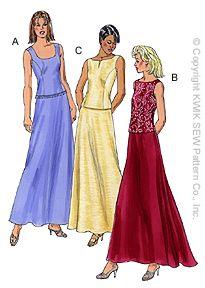 Kwik Sew Misses Skirt & Tops 3033