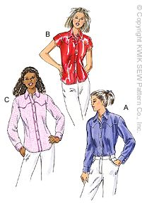 Kwik Sew Fitted Western-Style Shirt 3039