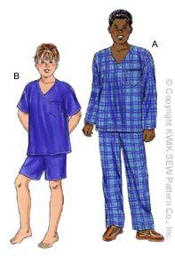 Kwik Sew Boy's Pajamas 3042