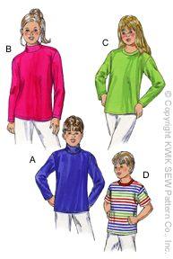 Kwik Sew knit tops 3043