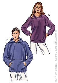 Kwik Sew pull-over sweatshirt 3045