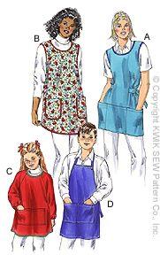 Kwik Sew Adult & Children Misses' & Children's Aprons 3046