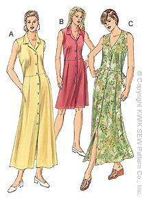 Kwik Sew Misses Dresses 3050