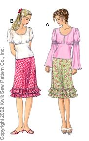 Kwik Sew skirts and tops 3062