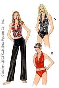 Kwik Sew Misses Swimsuits & Pants 3063