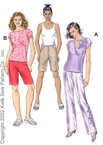 Kwik Sew Misses Pants, Shorts & Tops 3068