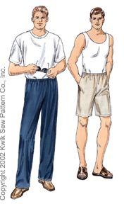 Kwik Sew Men Pants & Shorts 3070