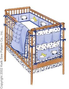 Kwik Sew Babies Crib Accessories 3075