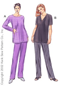Kwik Sew Tunics and pants 3087