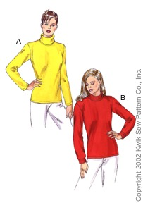 Kwik Sew Variation on T-Neck Pullover 3093