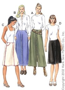 Kwik Sew Misses' skirts 3098