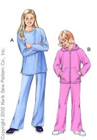 Kwik Sew Girls Shirts & Pants 3101