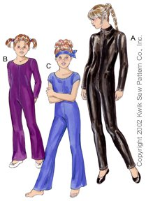 Kwik Sew Girls Unitards 3104
