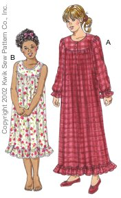 Kwik Sew Girls' Nightgowns 3105