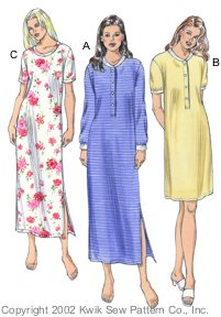 Kwik Sew Misses Nightgowns 3107