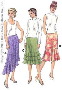 Kwik Sew Skirts with Flounce Options 3109