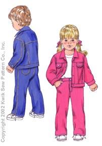 Kwik Sew Toddlers Jacket & Pants 3113