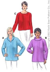 Kwik Sew Pullover Tops 3121