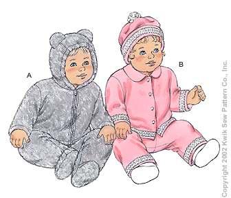 Kwik Sew Baby Jackets, Pants and Hat 3127