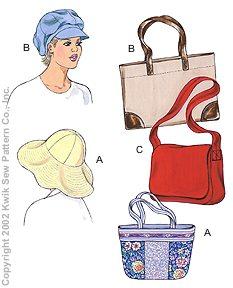 Kwik Sew Misses Hats & Bags 3133