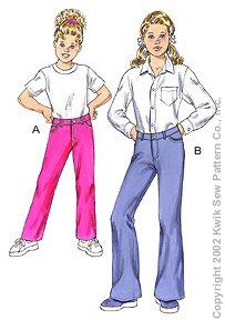 Kwik Sew Girls Jeans 3135