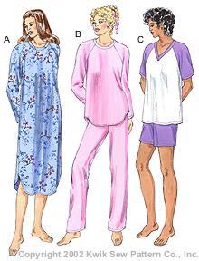Kwik Sew Misses Sleepwear 3144