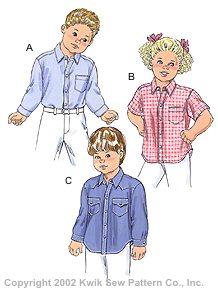 Kwik Sew Toddler's Shirts 3146