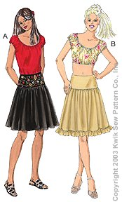 Kwik Sew Misses Tops & Skirts 3152