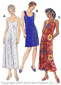 Kwik Sew Misses Dresses 3160