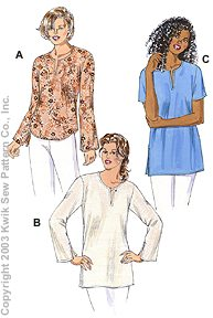 Kwik Sew Misses' Top & Tunics 3161