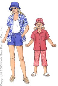 Kwik Sew Girl's Shirt, Pants, Shorts & 3168