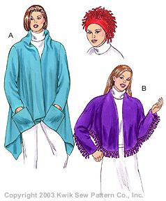 Kwik Sew Misses Jacket, Shawl & Hat 3173