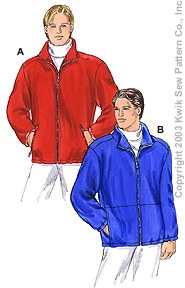 Kwik Sew Men Jackets 3187