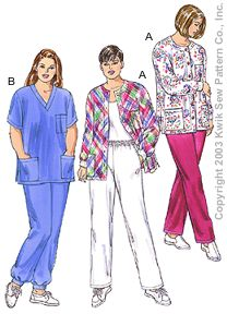Kwik Sew Women Scrubs 3201