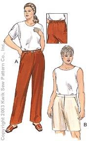 Kwik Sew Women Pants & Shorts 3202